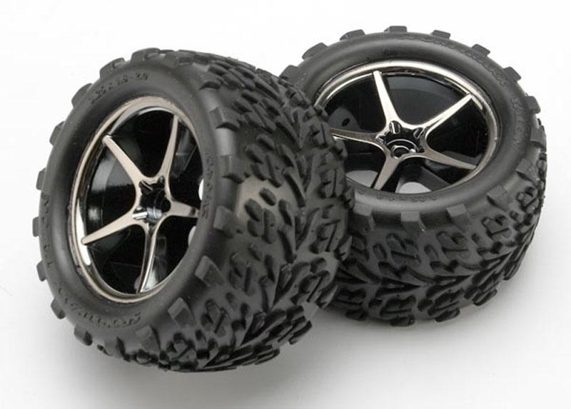 Reifen auf Felgen montiert 1:16 E-Revo