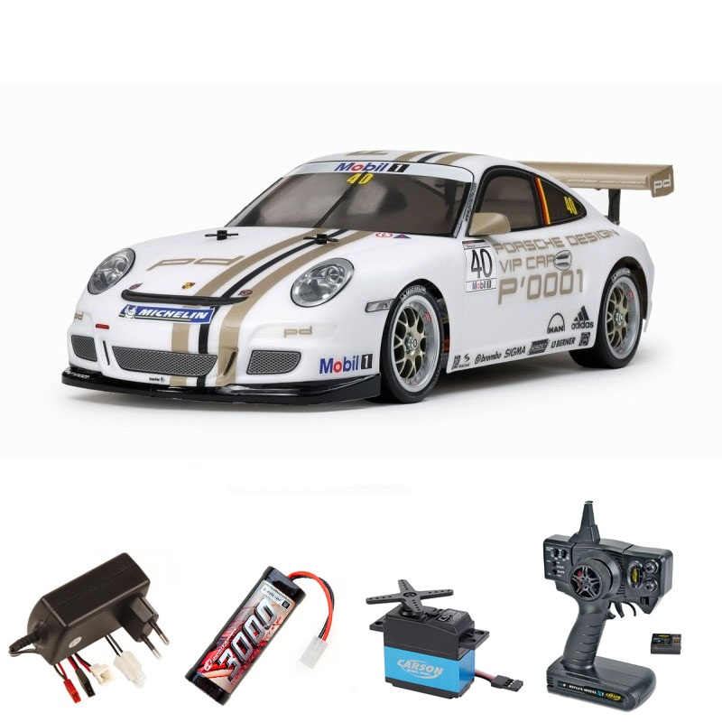 Porsche 911 GT3 Cup VIP 08 4WD 1/10 TT-01E 2,4G Komplettset