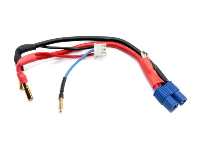 Fahr & Ladekabel mit Polarity Check LED - 4mm Gold auf EC3