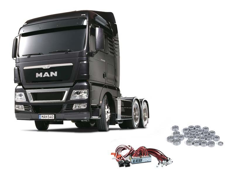Truck MAN TGX 26.540 Gun Metal Edition + LED, Kugellager