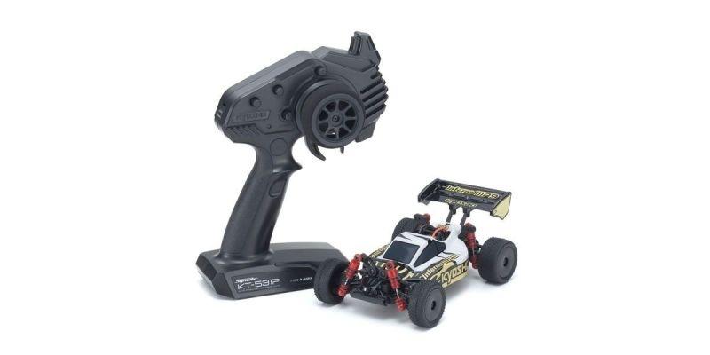 Mini-Z Inferno MP9 MB010 4WD Buggy 1/24 RTR, weiß/schwarz
