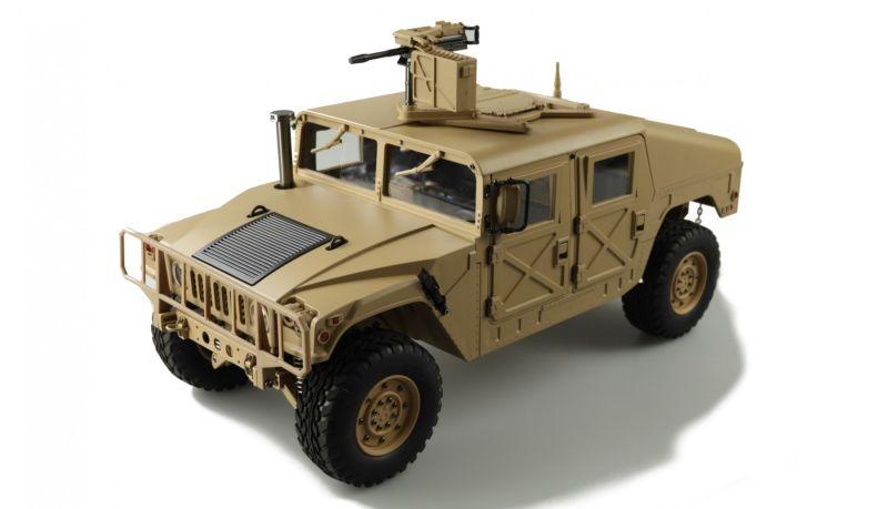 4x4 U.S. Militär Truck 1:10 Desert RTR Teilmetall 5kg 2Gang
