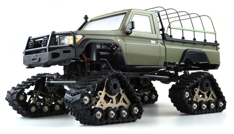 RCX10BTS Scale Crawler Pick-Up 1:10, RTR Militär grün