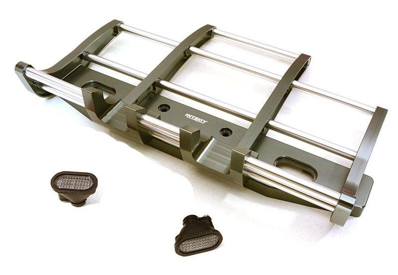 Aluminium Frontrammer mit LED´s für Tamiya 1:14 Trucks