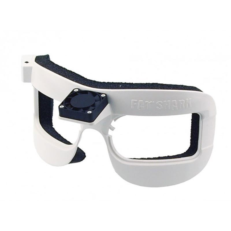 FSV HD Brillenauflage mit Lüfter, weiß für DOMV2