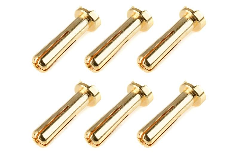 Goldstecker mit Schlitz 4mm (6 Stück)
