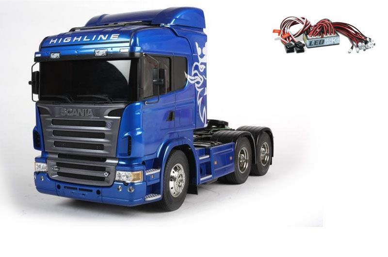 Scania R620 6x4 Highline blue Edition + LED-Licht Set