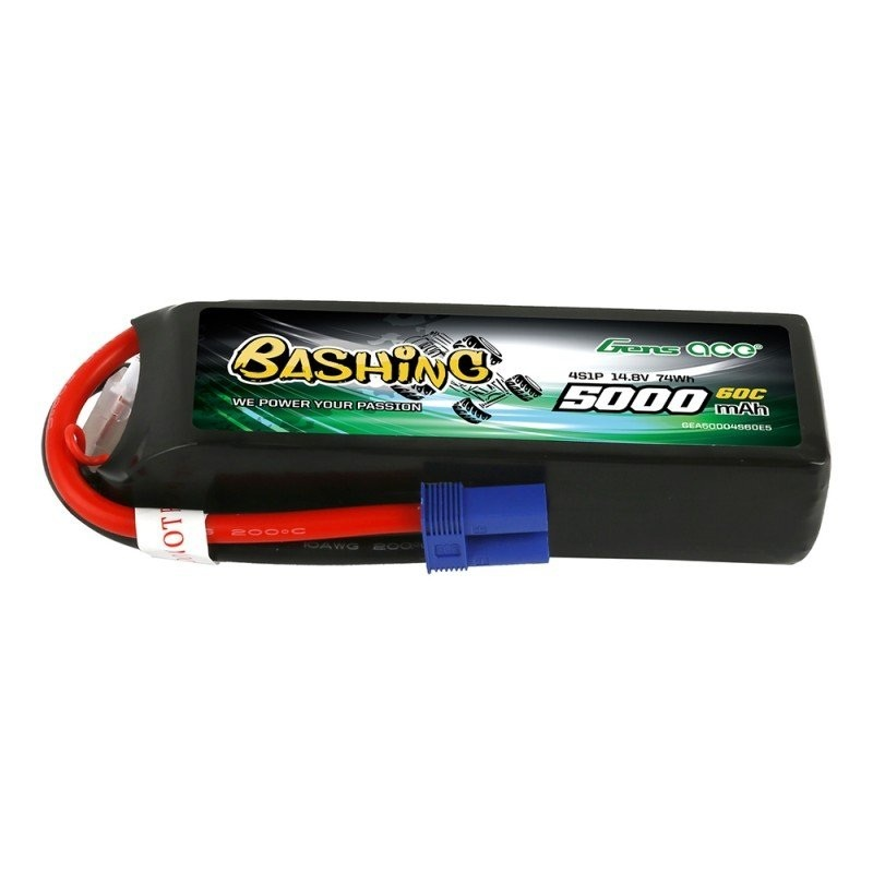 Bashing LiPo Akku 5000mAh 14.8V 4S1P 60C mit EC5 Stecker