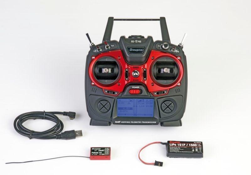 mz-12 PRO HoTT 2,4Ghz 12-Kanal Sender mit Empfänger
