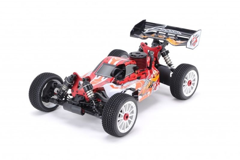 S350 FOX8 1/8 Nitro Off Road Buggy 2,4GHz RTR in Rot