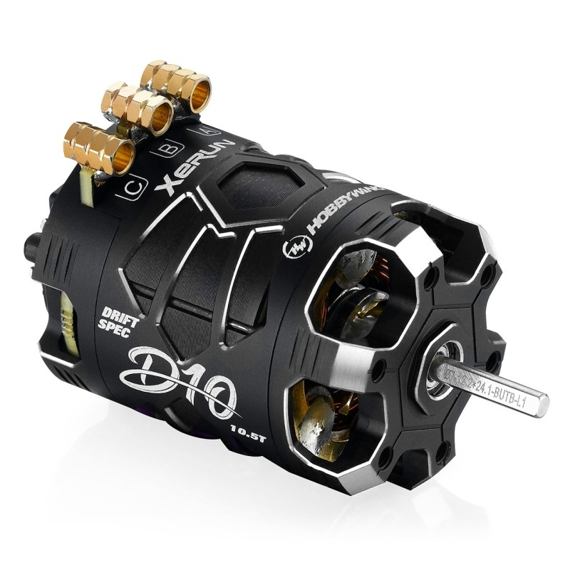 Xerun D10 Brushless Drift Motor 10.5T sensored, schwarz