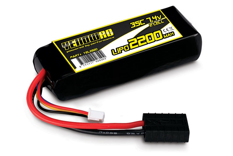 LiPo 2200mAh 7.4V 2S 35C , all 1/16 models