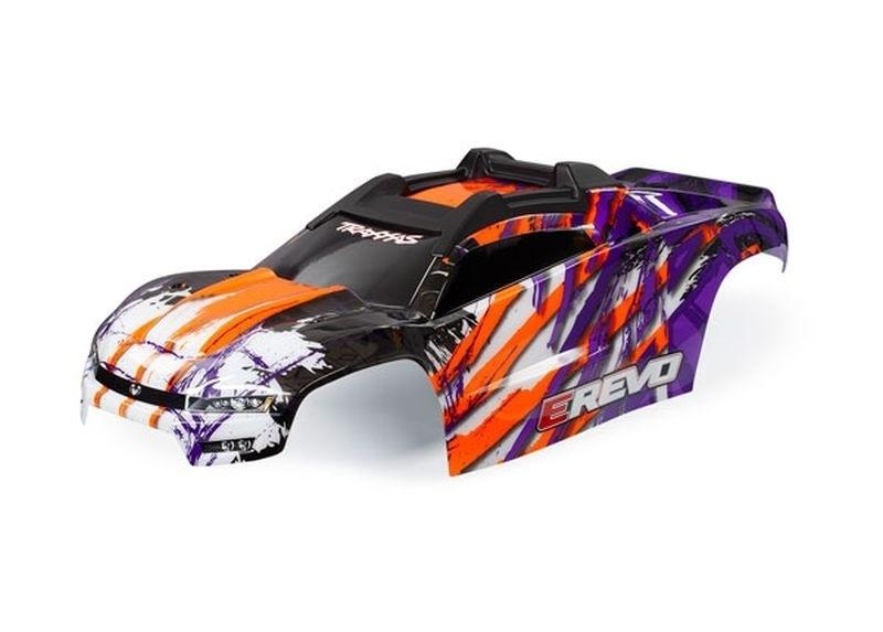 Karosserie purple lackiert inkl. Karosseriehalter E-Revo VXL