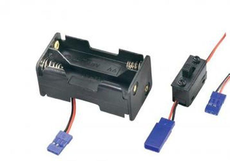 Batteriebox mit Schalter Mignon AA