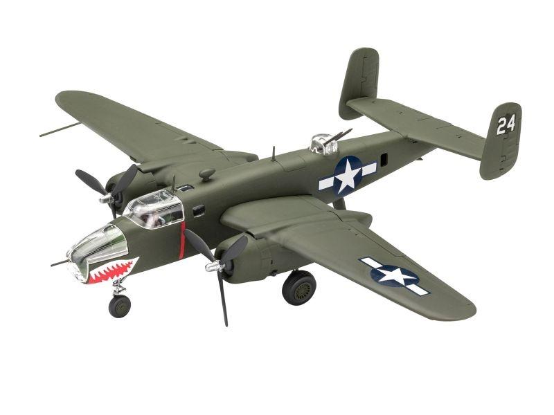 Model Set B-25 Mitchel 1:72 Set inkl. Kleber, Pinsel, Farben