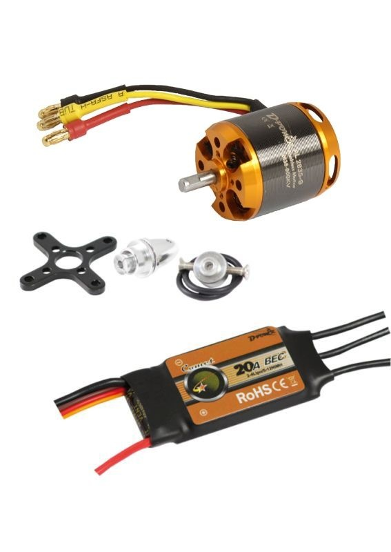 Brushless Set AL2835-9 & 20A Comet Regler