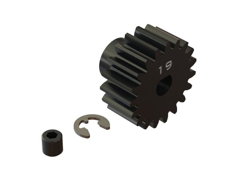 Stahl Motorritzel 19T, Modul 1 (5mm Welle) für Kraton 8S
