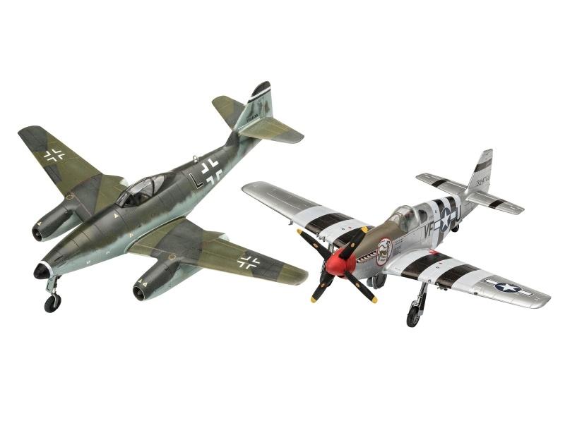 Me262 & P-51B Mustang Bausatz 1:72