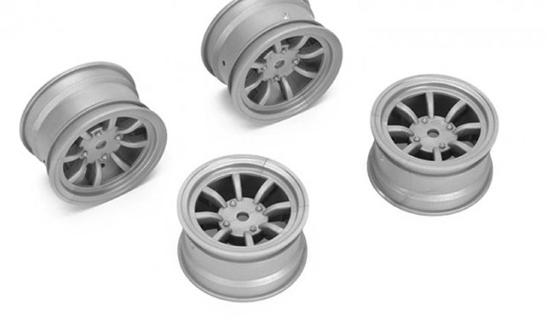 Felge 8-Speichen +1mm, 12mm Hex für M-Chassis, grau (4)