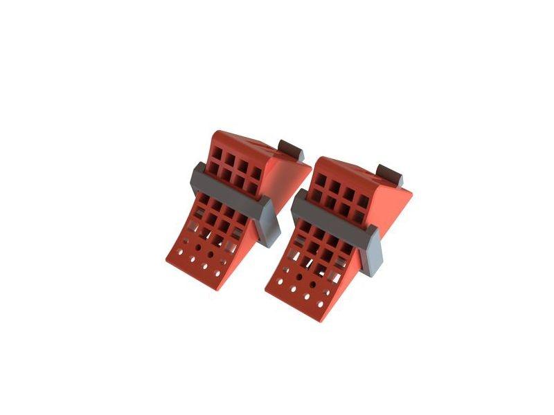 Hemmschuhe rot mit Halter schwarz (2)