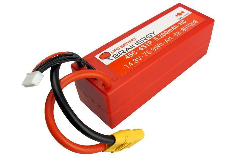 LiPo 4s1p 14,8V 5.200mAh 45C BRAINERGY XT90 Hardcase