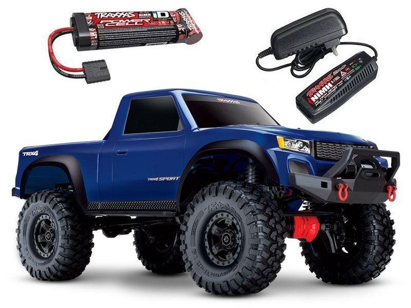 TRX-4 Sport - 1/10 Scale Crawler RTR blau + Akku + Ladegerät