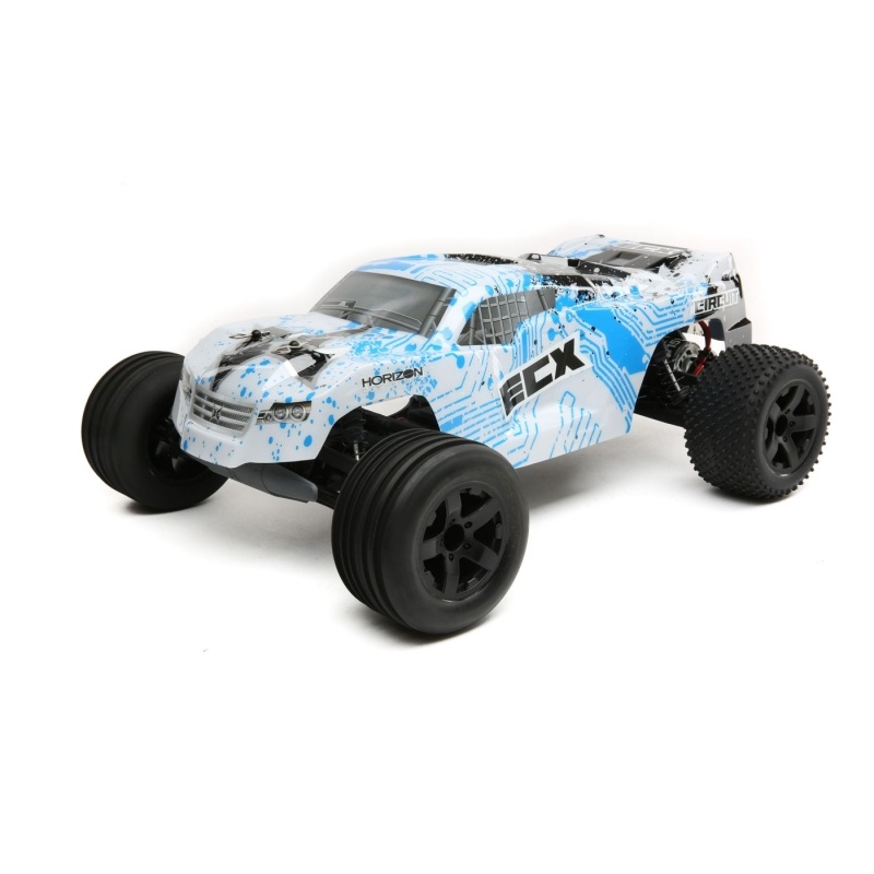 Circuit 2WD Stadium Truck Brushed 1:10 RTR LiPo weiss/blau