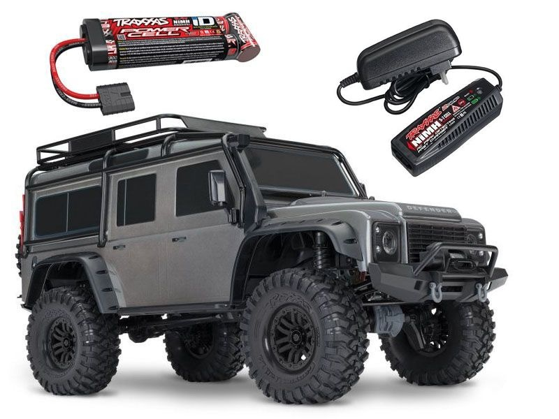 TRX-4 Land Rover Defender Crawler grau 1:10 4WD +Akku,Lader