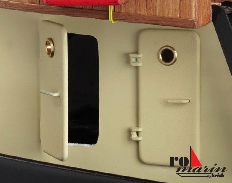 Schiffs-Türen 54X25mm je 3xlinks+rechts