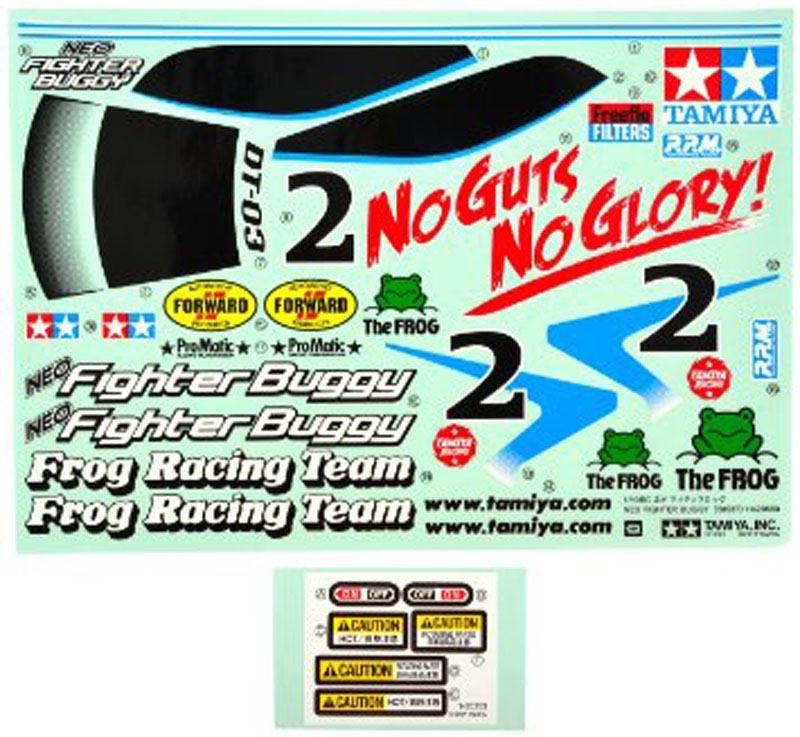 Stickerbogen / Dekorbogen für Neo Fighter Buggy DT-03