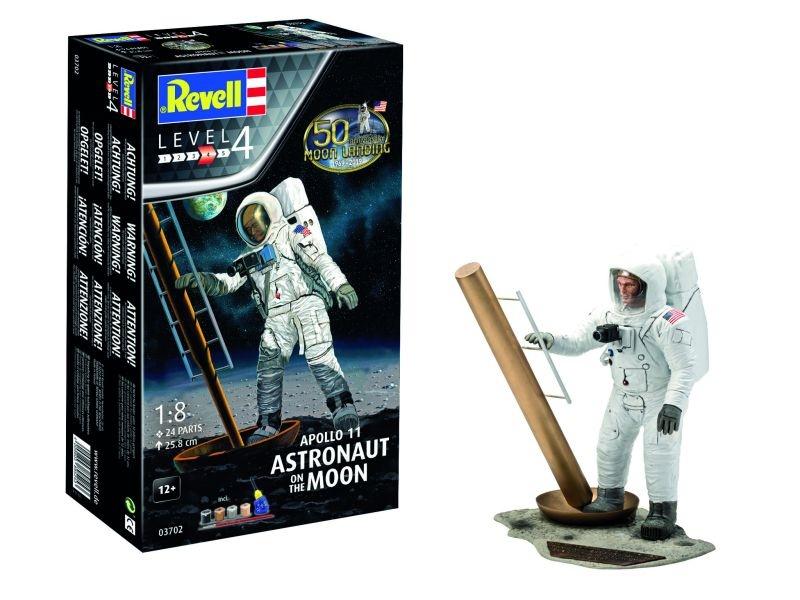 Apollo 11 Astronaut inkl. Farben-Kleber-Pinsel 1:8