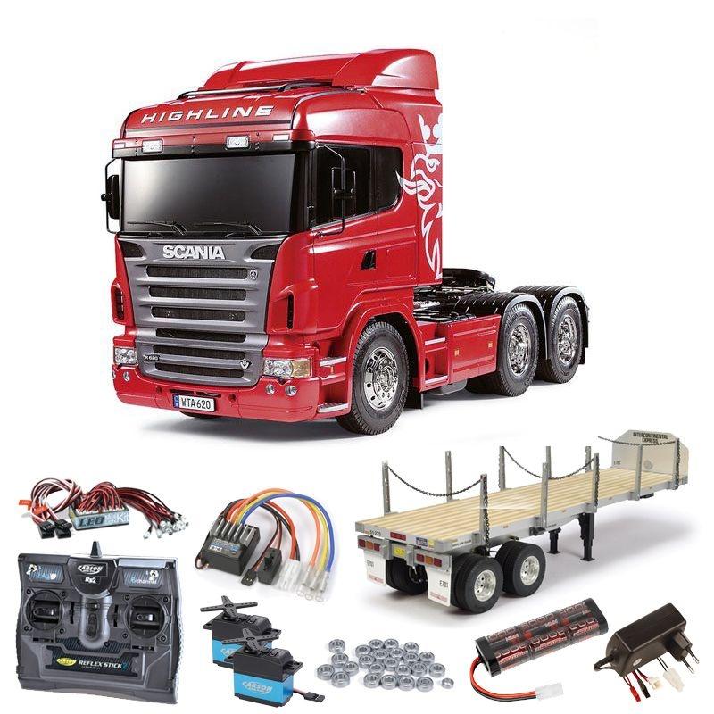 Scania R620 3-Achs 6x4 komplett inkl. Flachbett, LED, Lager