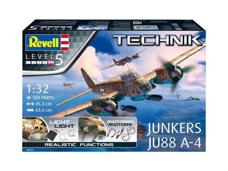 Junkers JU88 A-4 Flugzeug Technik Kit 1:32 mit Beleuchtung