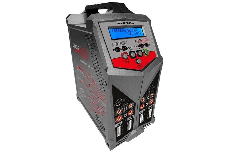 Cube 100 4fach Ladegerät AC/DC 4x 100 Watt Lipo