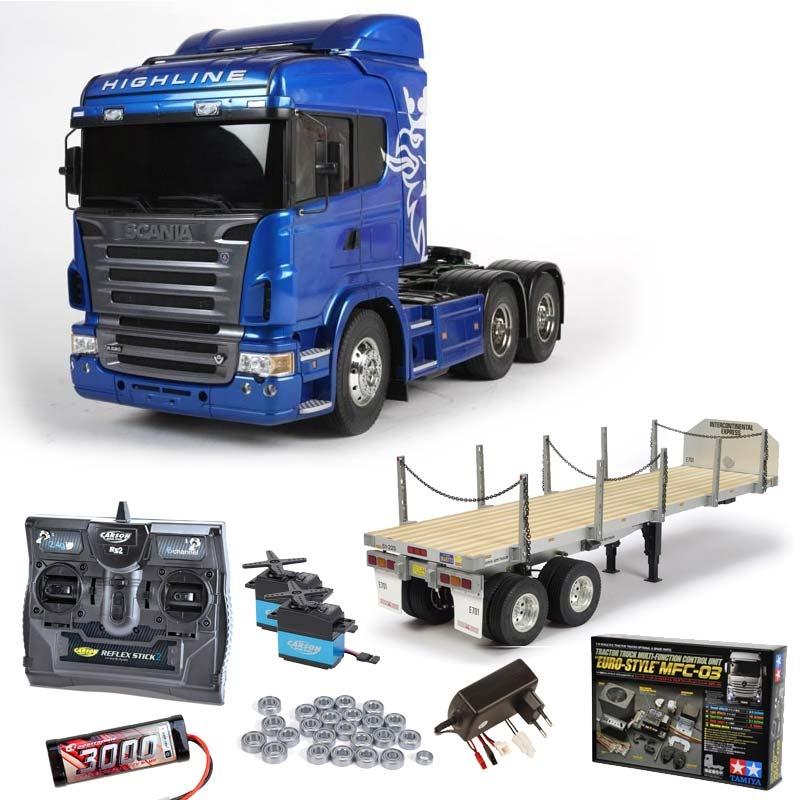 Scania R620 6x4 Highline Blue inkl. MFC-03, Flachbett, Lager