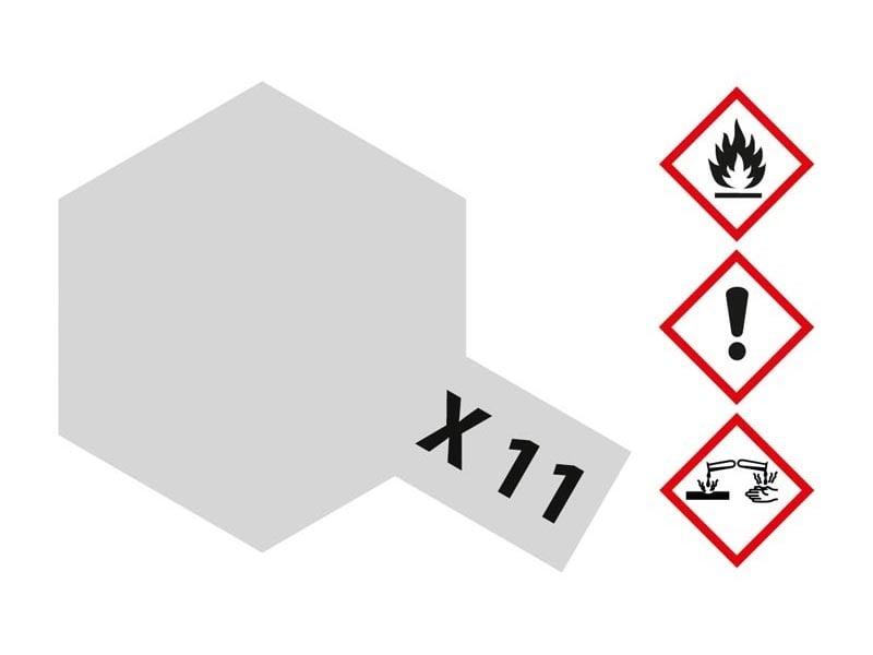 X-11 Chrom Silber glänzend 23 ml Acrylfarbe