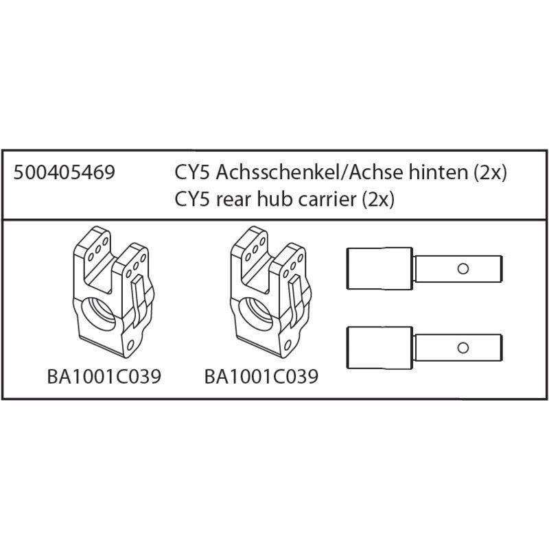 CY5 Achsschenkel Achse, hinten 2 Stück