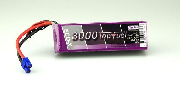 TopFuel LiPo Akku 20C-ECO-X 3000mAh 18,5V 5S