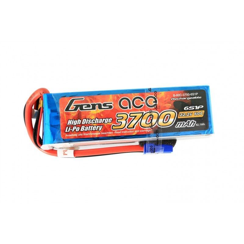 LiPo Akku 3700mAh 6S1P 22,2V 60C mit EC5 Stecker