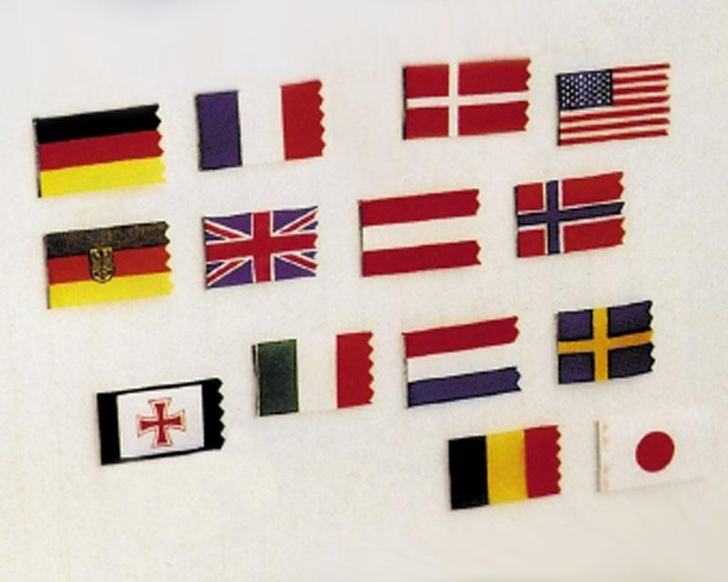 Flaggensatz Dänemark 25x40 mm/ 15x30 mm