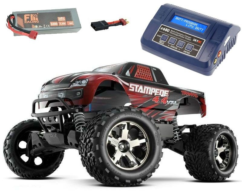 Stampede 4x4 BRUSHLESS Monster Truck VXL 2018 + LiPo & Lader