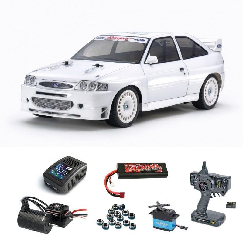 Ford Escort Custom TT-02 4WD 1:10 Kit Brushless Komplettset