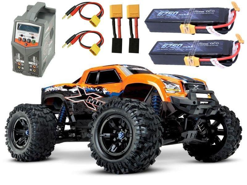 X-MAXX 8S 4WD Brushless TSM RTR orange +2x4S Lipo, Lader