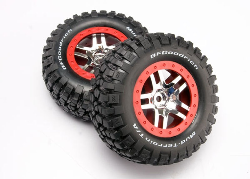Reifen auf Felge chrome Slash 4x4