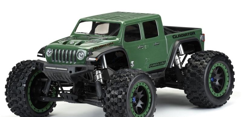 Jeep Gladiator Rubicon Karosserie (klar) für X-Maxx