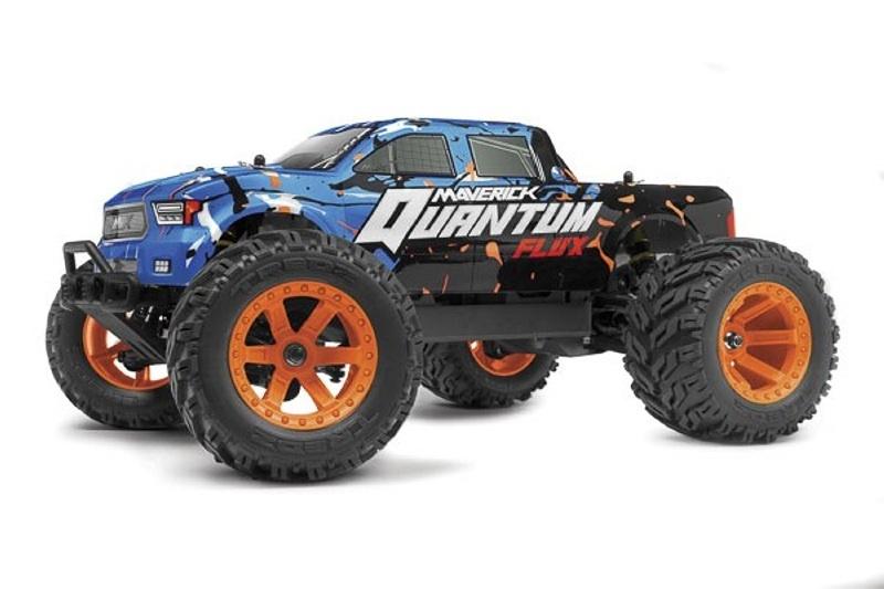 Quantum MT Flux 80A 1/10 4WD BL Monster Truck RTR, blau