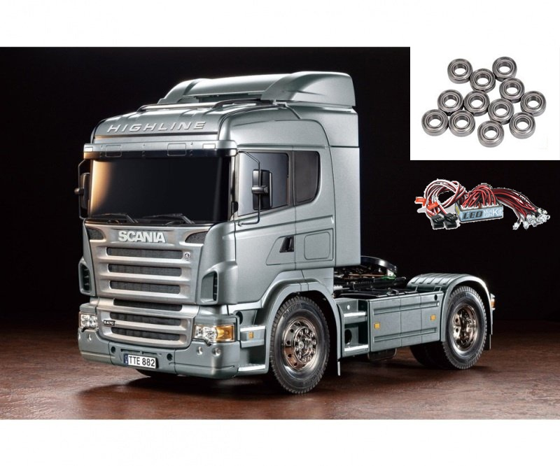 Scania R470 Silber 1:14 Truck RC inkl. LED und Kugellager