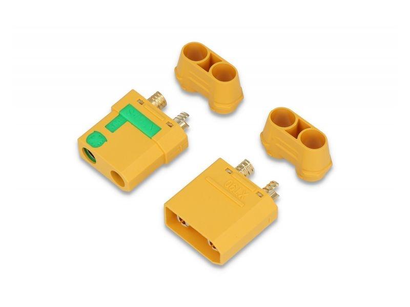 Goldkontakt XT90-S mit Anti-Blitz 1 Paar