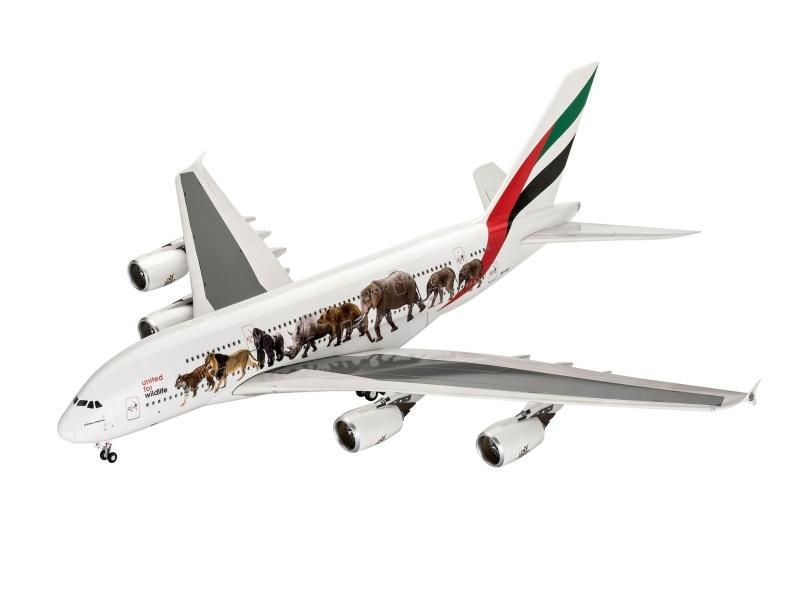 Airbus A380-800 Emirates Wild Life 1:144 Plastik Bausatz