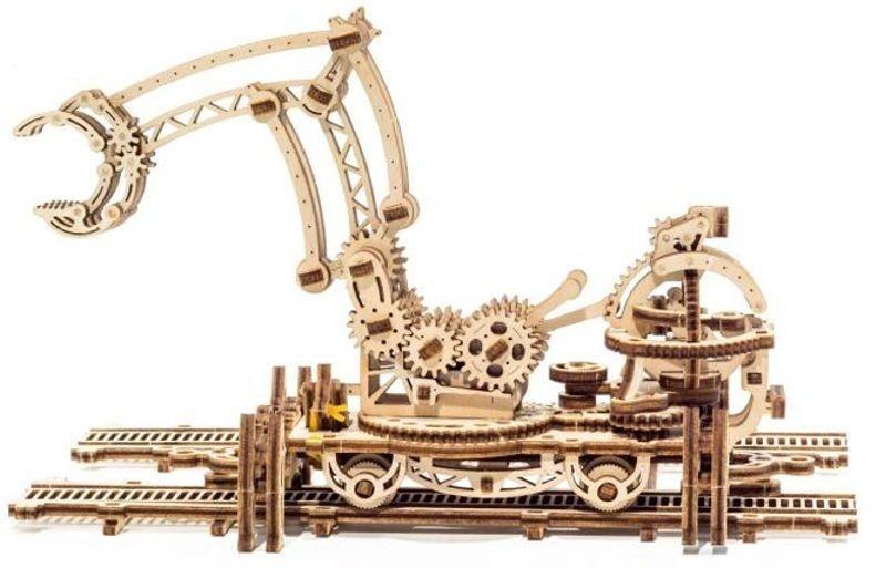Schienen Drehkran - mechanischer 3D Holzbausatz
